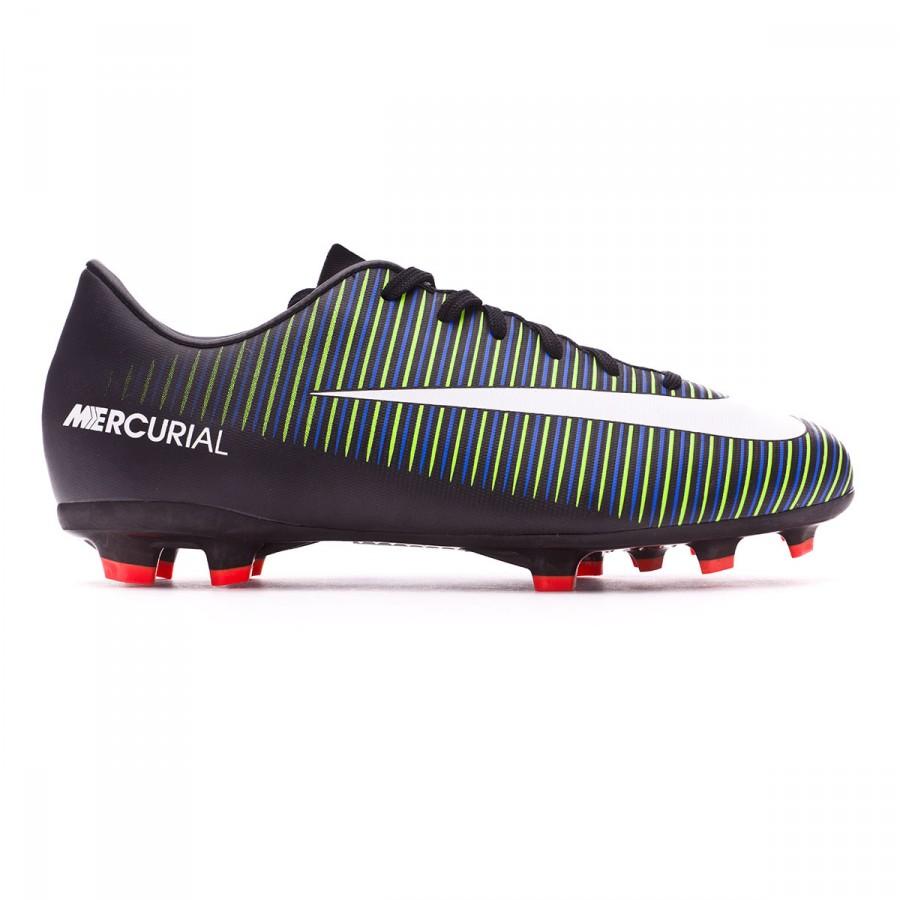 6563409d7 Football Boots Nike Jr Mercurial Vapor XI FG Black-White-Electric green - Football  store Fútbol Emotion