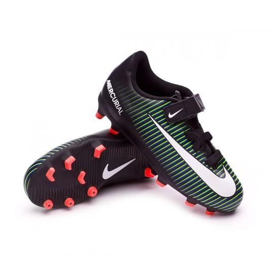 Bota  Nike jr Mercurial Vortex III Velcro FG Black-White-Electric green