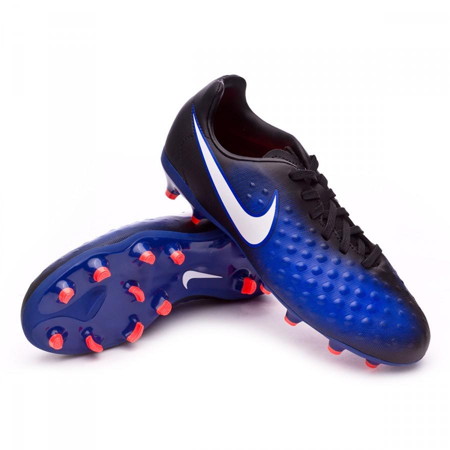 7931752cda5fb Zapatos de fútbol Nike Magista Opus II FG Niño Black-White-Paramount  blue-Blue tint - Soloporteros es ahora Fútbol Emotion