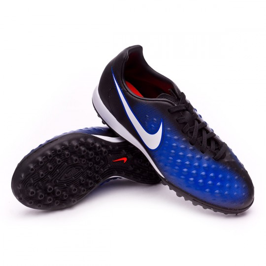 Zapatilla de fútbol sala  Nike jr MagistaX Opus II Turf Black-White-Paramount blue-Blue tint