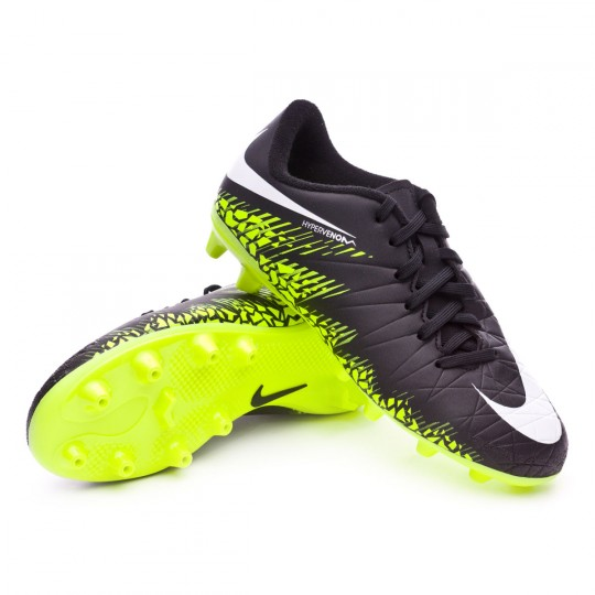 Chaussure  Nike jr Hypervenom Phelon II AG-Pro Black-White-Volt-Paramount blue