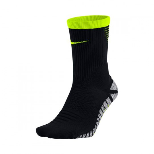 Meias  Nike GRIP Strike Lightweight Crew Football Black-Volt