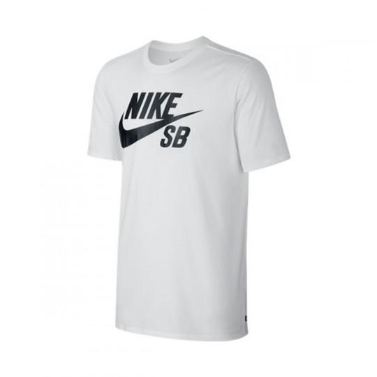 Camiseta  Nike SB Logo White-Black
