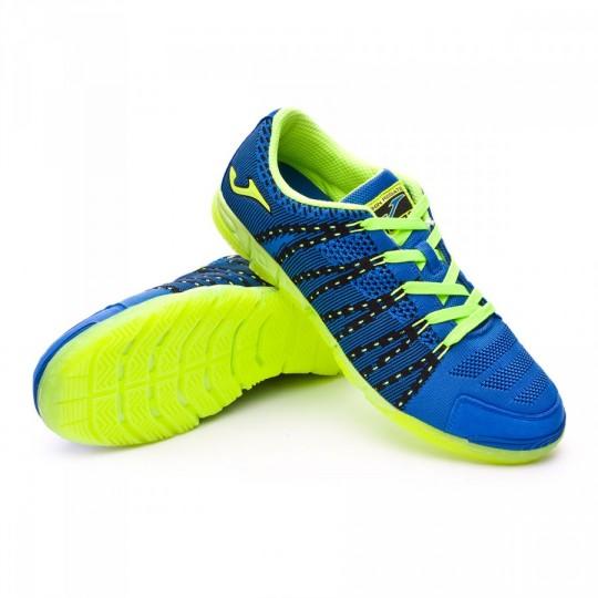 Zapatilla de fútbol sala  Joma Skin Regate Azul-Limon fluor-Negro