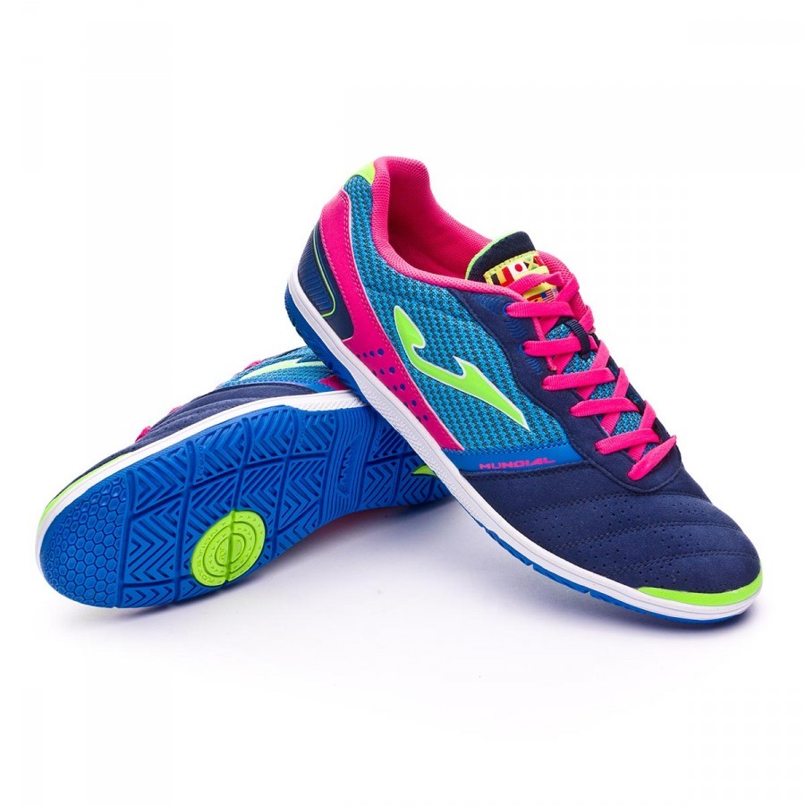 b213a4a44f41 Chaussure de futsal Joma Mundial Bleu marine-Royal-Fuchsia - Boutique de  football Fútbol Emotion
