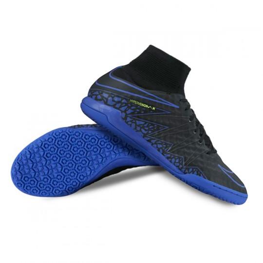Chaussure de futsal  Nike HyperVenomX Proximo IC Black-Paramount blue-Volt-Dark grey