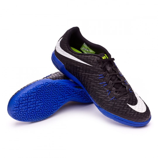 Chaussure de futsal  Nike HyperVenomX Finale IC Black-White-Paramount blue-Volt