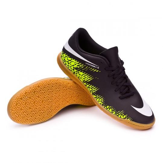 Chaussure de futsal  Nike HyperVenomX Phade II IC Black-White-Volt-Paramount blue