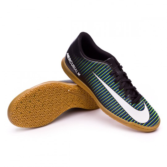 Chaussure de futsal  Nike MercurialX Vortex III IC Black-White-Paramount blue