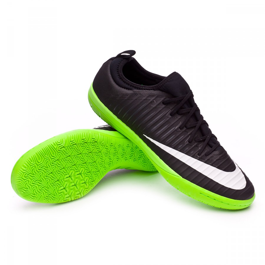 more photos f0748 94dbe Nike MercurialX Finale II IC Futsal Boot. Black-White-Electric green-Anthracite  ...