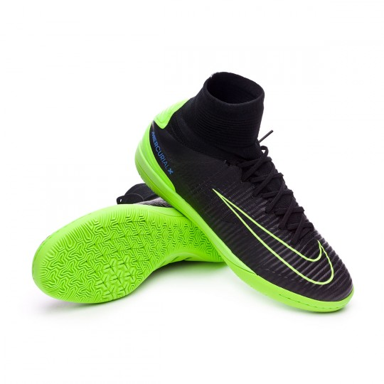 Zapatilla de fútbol sala  Nike MercurialX Proximo II IC Black-Electric green-Paramount blue