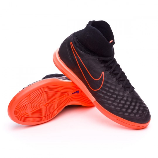 Zapatilla de fútbol sala  Nike MagistaX Proximo II IC Black-Hyper orange-Paramount blue