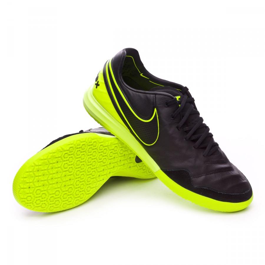 84a9b320e Futsal Boot Nike TiempoX Proximo IC Black-Volt - Football store ...