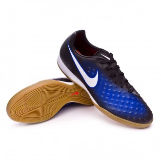 Sapatilha de Futsal  Nike MagistaX Onda II IC Black-White-Paramount blue-Blue tint