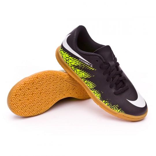 Zapatilla de fútbol sala  Nike jr HyperVenomX Phade II IC Black-White-Volt-Paramount blue