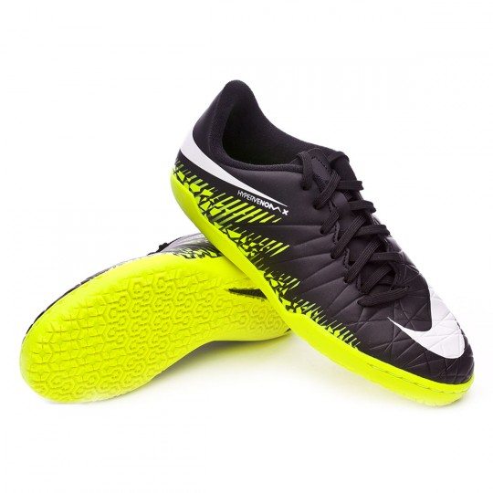 Chaussure de futsal  Nike jr HyperVenomX Phelon II IC Black-White-Volt-Paramount blue