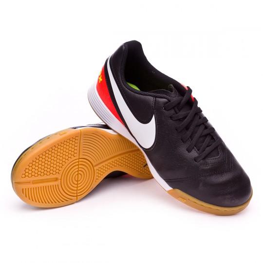 Zapatilla de fútbol sala  Nike jr TiempoX Legend VI IC Black-White-Hyper orange-Volt