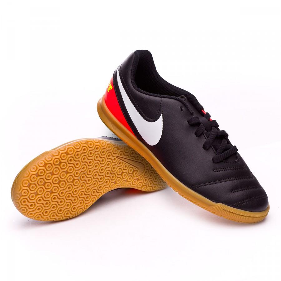 7ebf71cc370ef Zapatilla Nike TiempoX Rio III IC Niño Black-White-Hyper orange-Volt -  Tienda de fútbol Fútbol Emotion