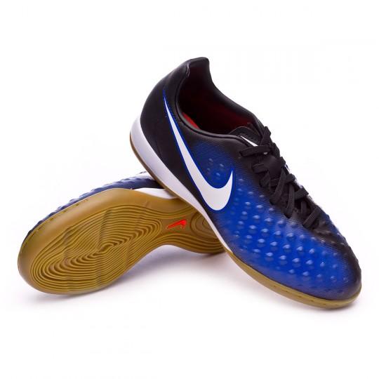 Zapatilla de fútbol sala  Nike jr MagistaX Opus II IC Black-White-Paramount blue-Blue tint