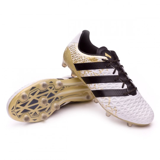 Chaussure  adidas Ace 16.1 FG White-Core black-Gold metallic