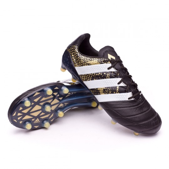 Chaussure  adidas Ace 16.1 FG Leather Core black-White-Gold metallic
