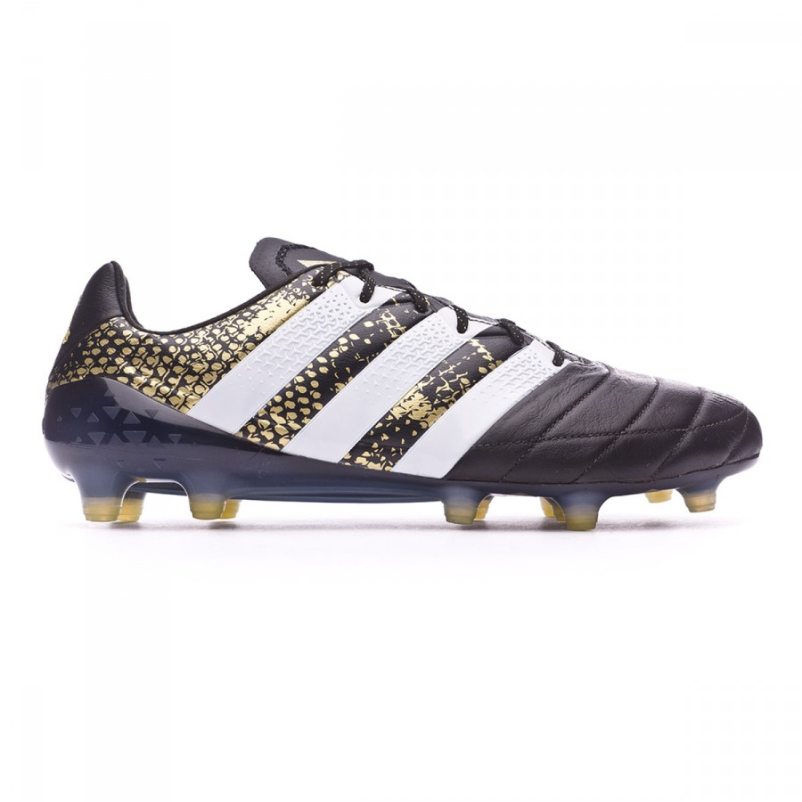 2acda82889f8 Football Boots adidas Ace 16.1 FG Leather Core black-White-Gold metallic - Football  store Fútbol Emotion