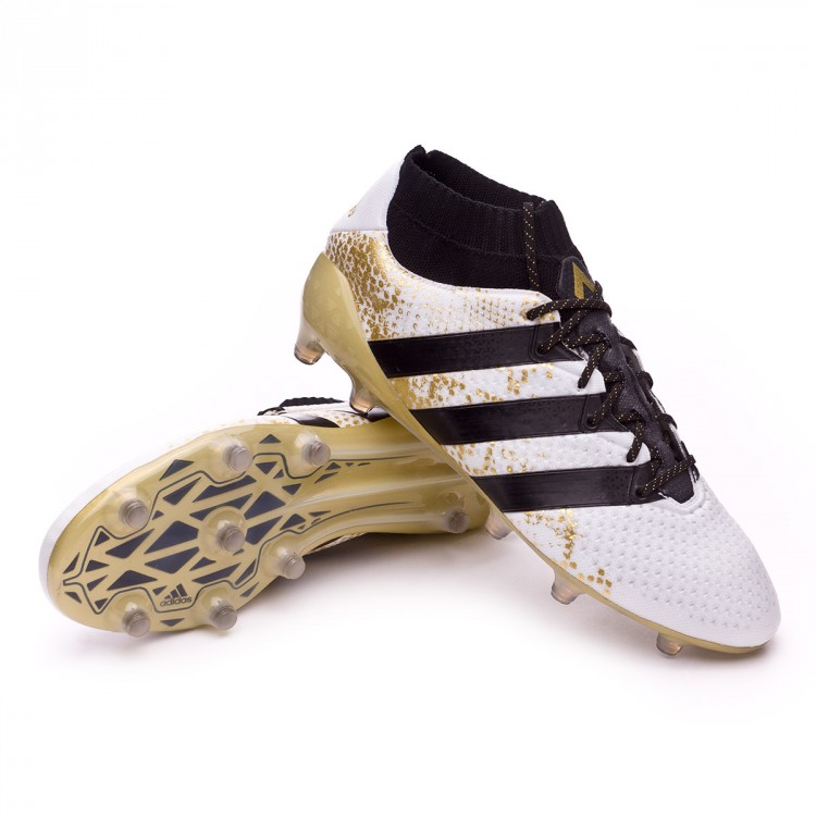 Boot adidas Ace 16.1 Primeknit FG White-Core black-Gold metallic ... 8275564c1326