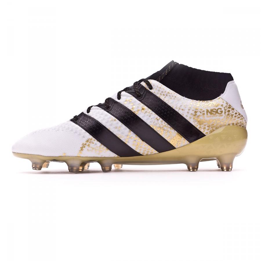 Boot adidas Ace 16.1 Primeknit FG White-Core black-Gold metallic - Football  store Fútbol Emotion 5a3d3153e9