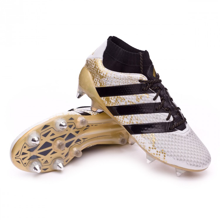 adaf9481ed46 Football Boots adidas Ace 16.1 Primeknit SG White-Core black-Gold ...
