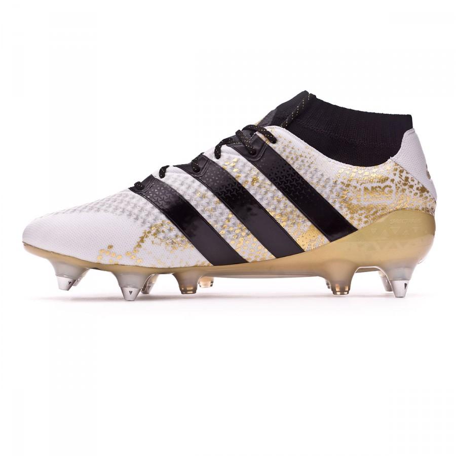 6752dffa6ed1 Football Boots adidas Ace 16.1 Primeknit SG White-Core black-Gold metallic  - Football store Fútbol Emotion