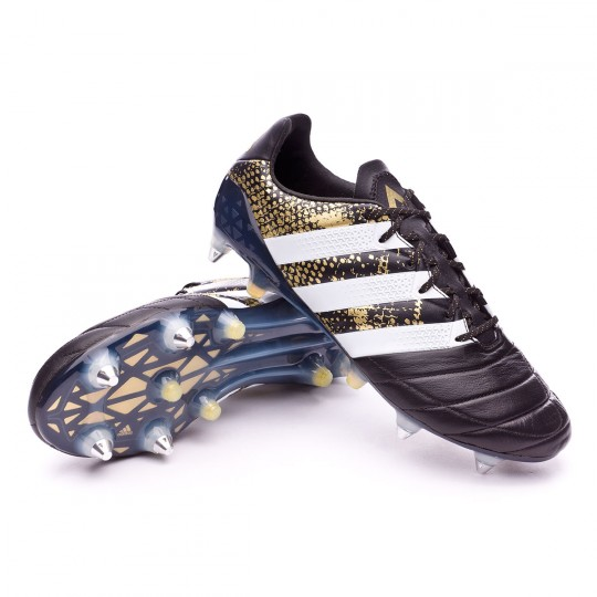 Chaussure  adidas Ace 16.1 SG Leather Core black-White-Gold metallic