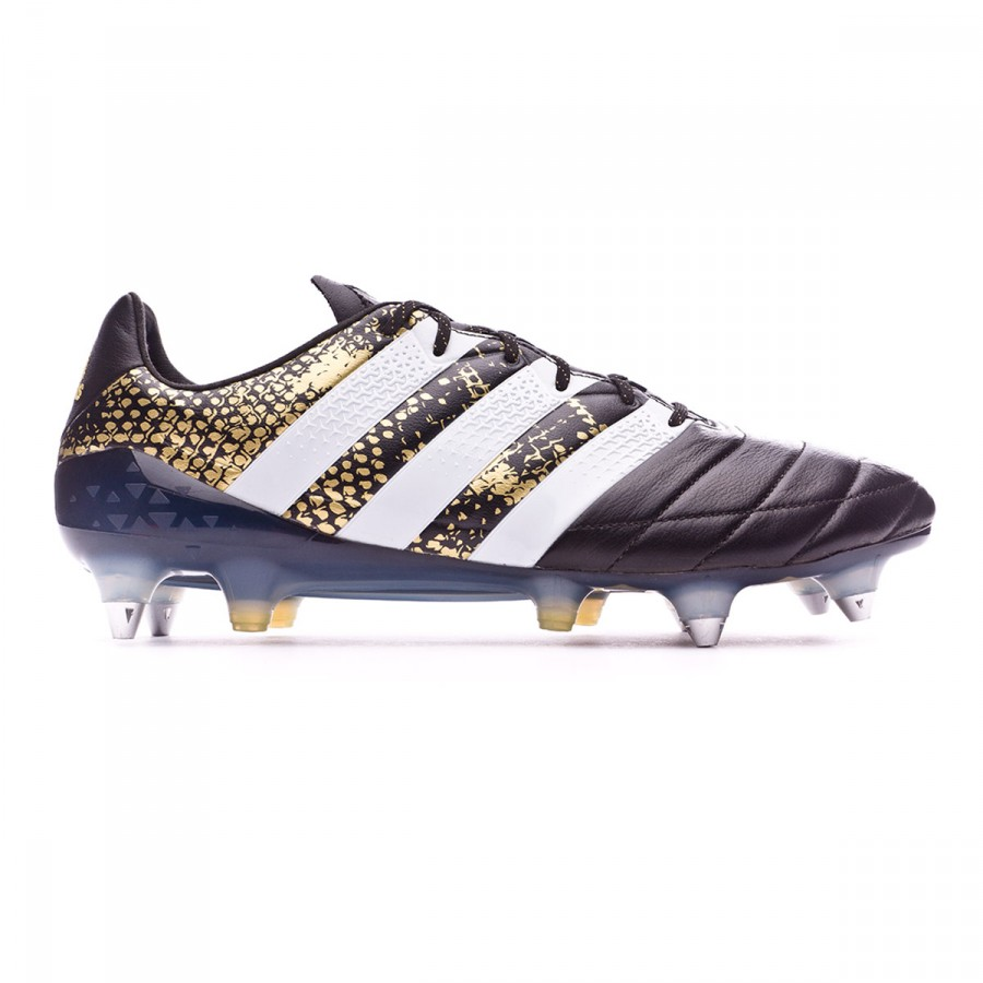 93002f1afac8 Football Boots adidas Ace 16.1 SG Leather Core black-White-Gold metallic - Football  store Fútbol Emotion