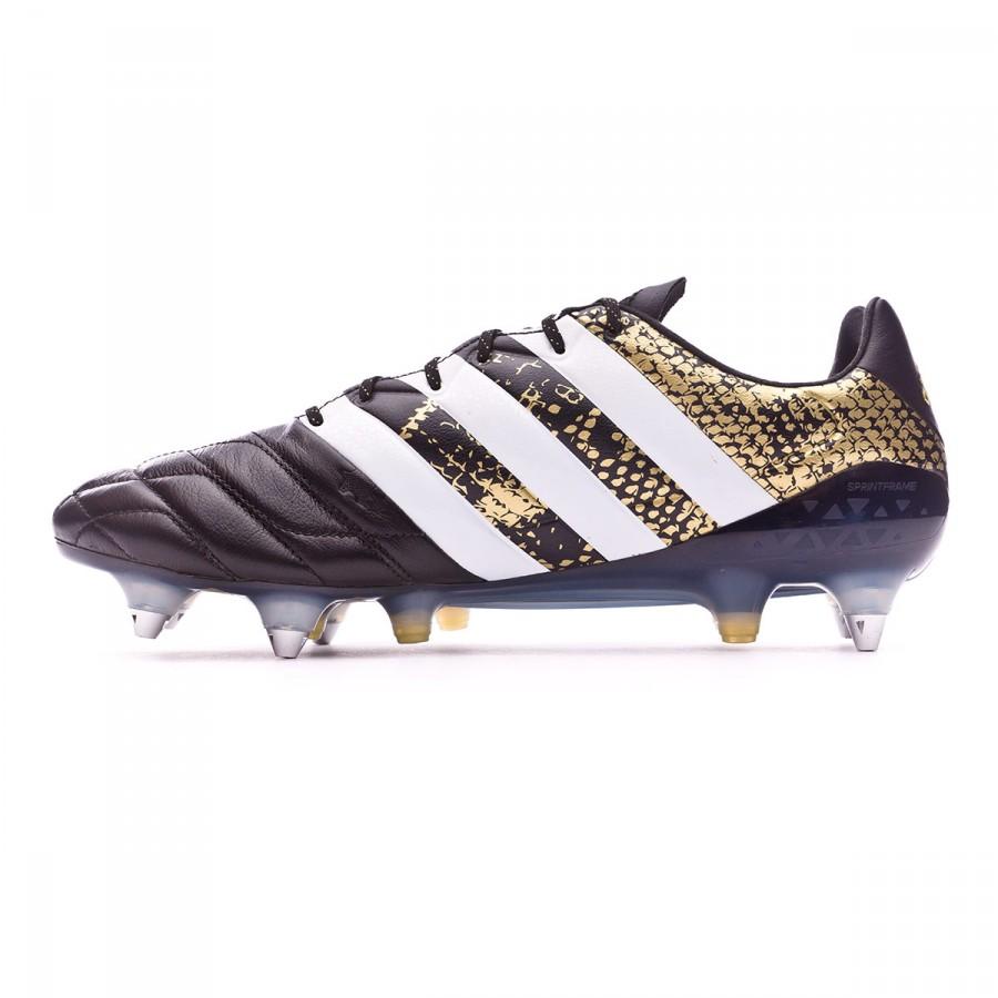 8e7e5d15a Football Boots adidas Ace 16.1 SG Leather Core black-White-Gold metallic -  Football store Fútbol Emotion
