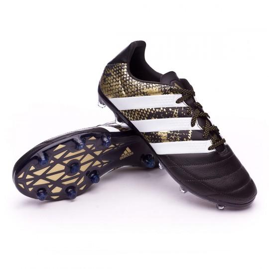 Bota  adidas Ace 16.2 FG Leather Core black-White-Gold metallic