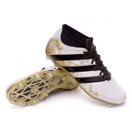 Chaussure  adidas Ace 16.2 Primemesh FG/AG White-Core black-Gold metallic
