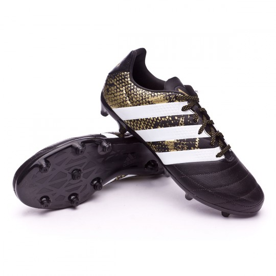 Bota  adidas Ace 16.3 FG Leather Core black-White-Gold metallic