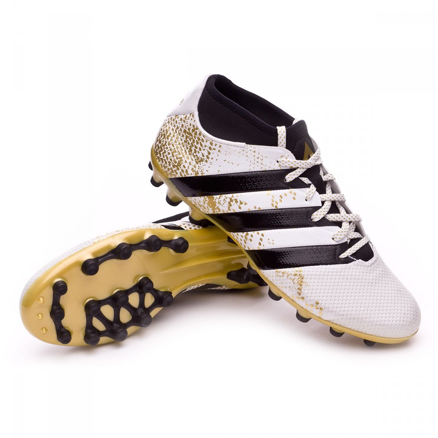 best sneakers eba93 0fa3b Bota de fútbol adidas Ace 16.3 Primemesh AG White-Core black-Gold metallic  - Soloporteros es ahora Fútbol Emotion