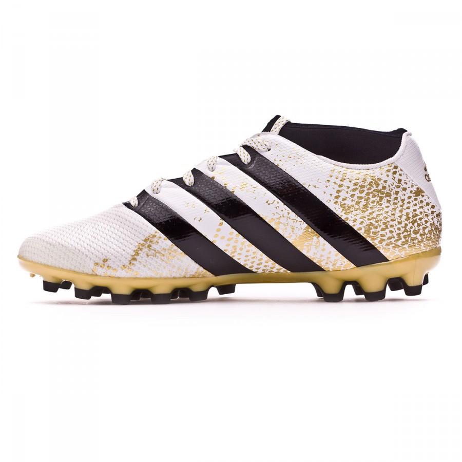 a29969a71a7c Football Boots adidas Ace 16.3 Primemesh AG White-Core black-Gold metallic  - Tienda de fútbol Fútbol Emotion