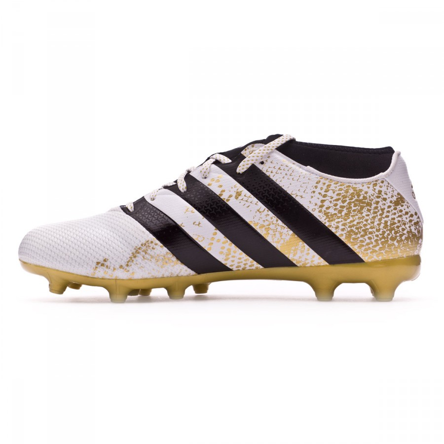 7a56771a2450 Football Boots adidas Ace 16.3 Primemesh FG AG White-Core black-Gold  metallic - Football store Fútbol Emotion