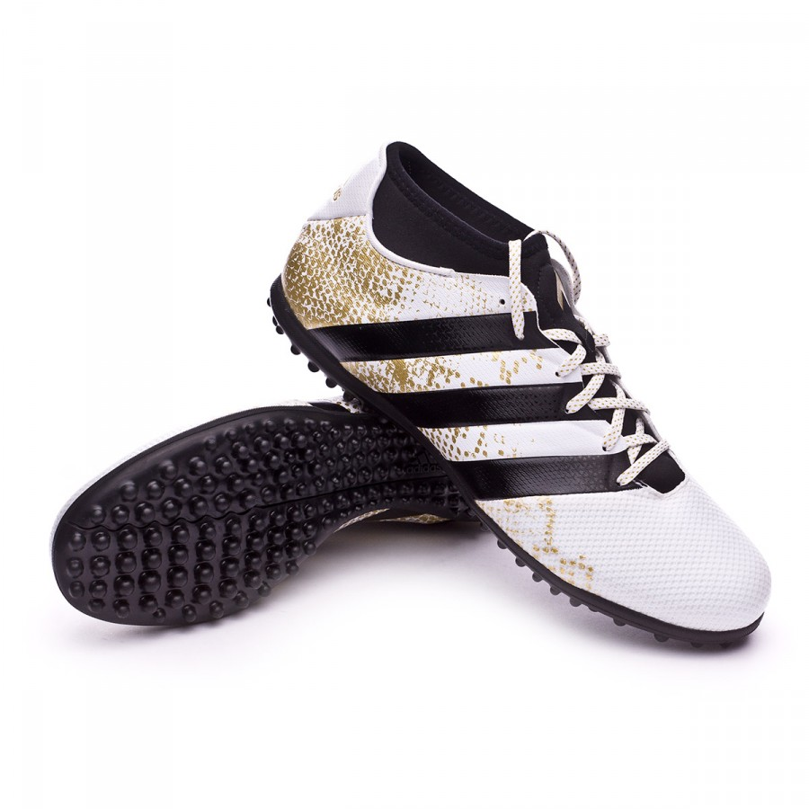 detailed look b03ab 2034e Bota de fútbol adidas Ace 16.3 Primemesh Turf White-Core black-Gold  metallic - Soloporteros es ahora Fútbol Emotion