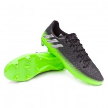 Messi 16.1 FG Dark grey-Silver metallic-Solar green