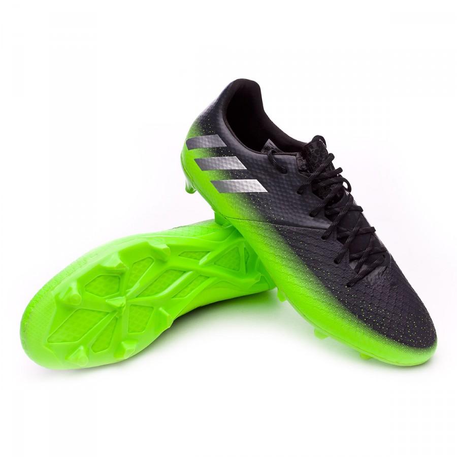 4289e4500e6 Boot adidas Messi 16.2 FG Dark grey-Silver metallic-Solar green -  Soloporteros es Adidas Messi 16.1 FG Soccer Cleats ...