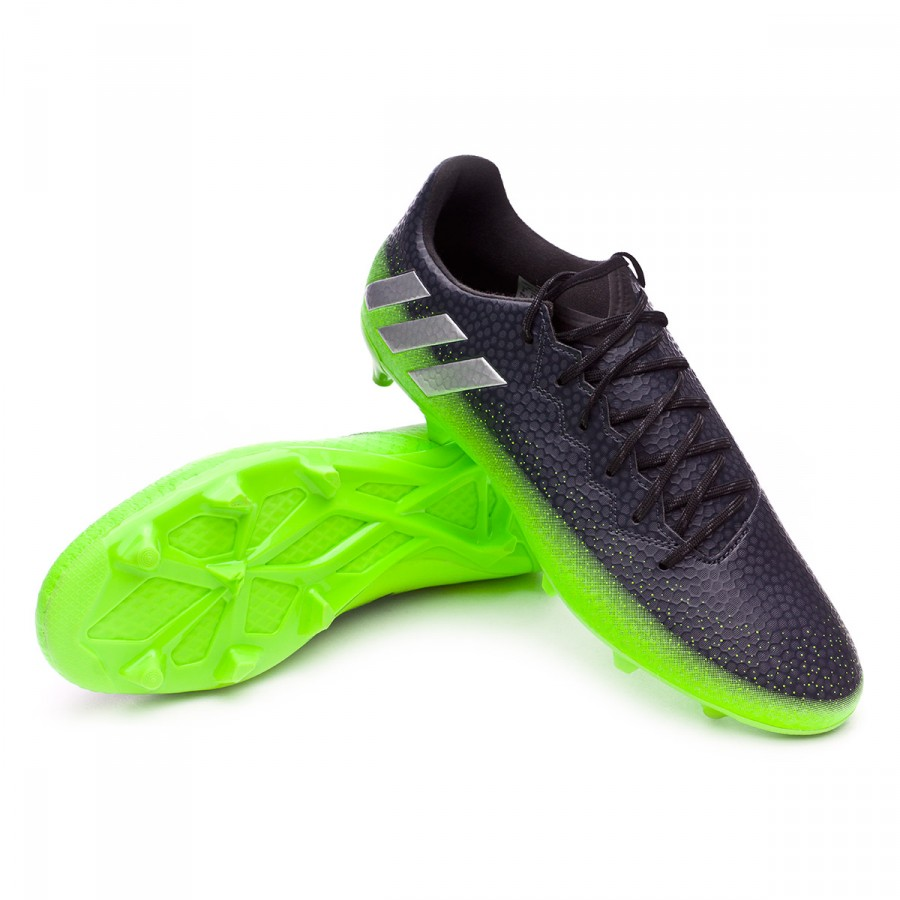 Boot adidas Messi 16.3 FG Dark grey-Silver metallic-Solar green - Football  store Fútbol Emotion cdaabfd9f4c8b