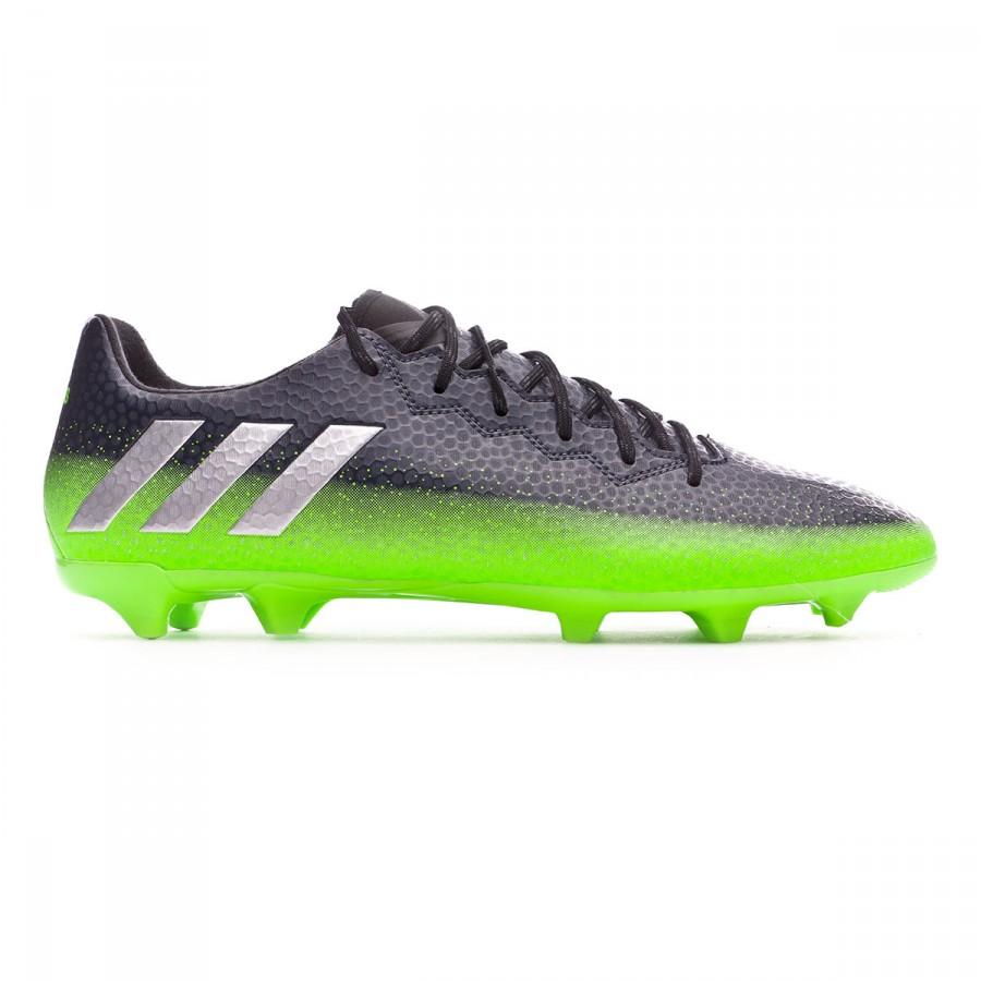Boot adidas Messi 16.3 FG Dark grey-Silver metallic-Solar green ... e96be357d4a3f