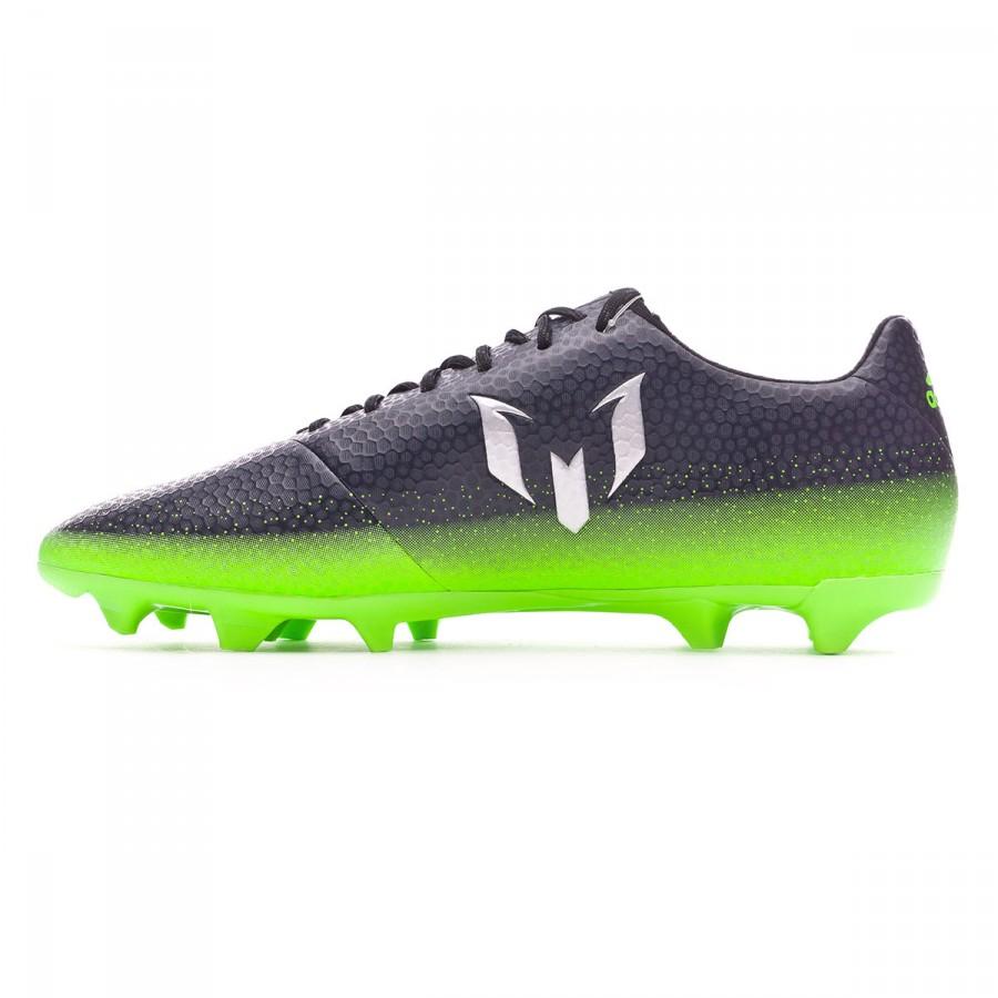 a5962a8370 Chuteira adidas Messi 16.3 FG Dark grey-Silver metallic-Solar green - Loja  de futebol Fútbol Emotion