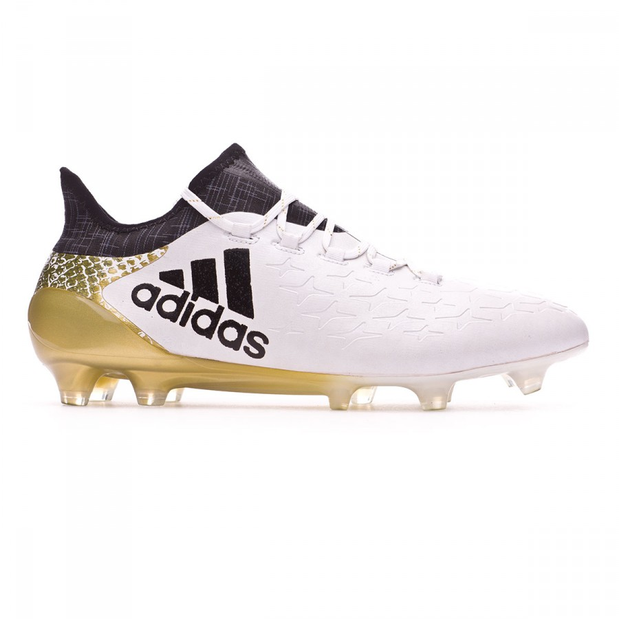 464a517fed8f Football Boots adidas X 16.1 FG White-Core black-Gold metallic - Football  store Fútbol Emotion
