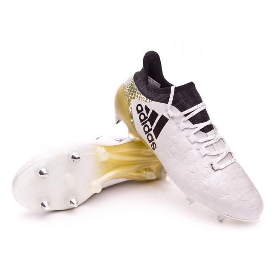 Bota  adidas X 16.1 SG White-Core black-Gold metallic
