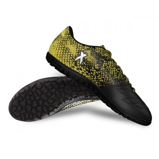 Chuteira  adidas X 16.3 Turf Leather Core black-White-Gold metallic