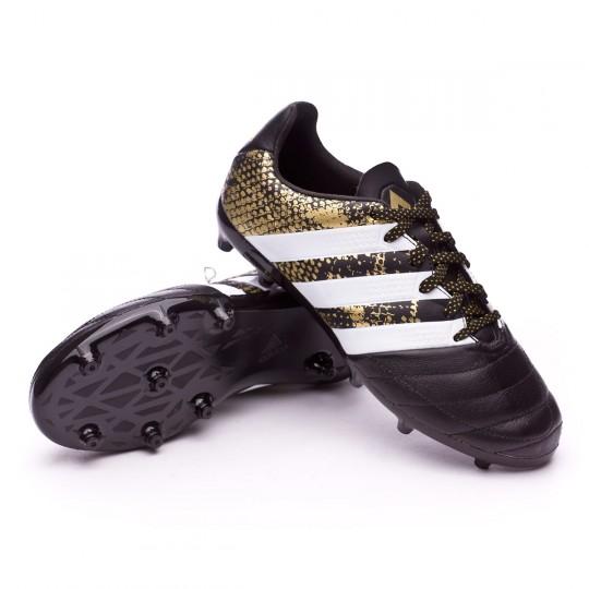 Bota  adidas jr Ace 16.1 FG Leather Core black-White-Gold metallic