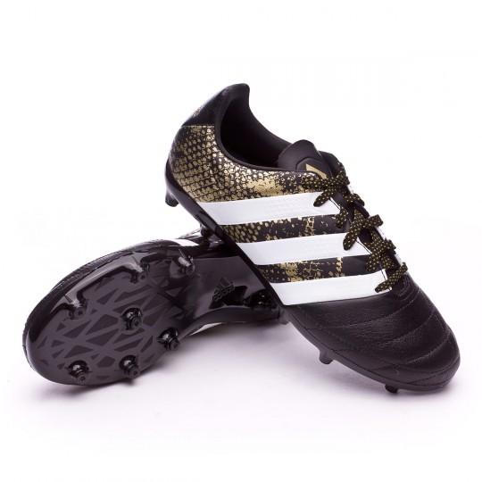 Bota  adidas jr Ace 16.3 FG Leather Core black-White-Gold metallic
